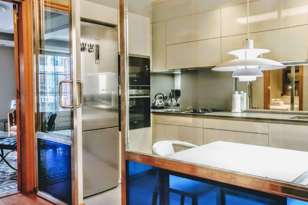 sleek private kitchen to cook the fresh produce of the local markets in the Eixample area of Barcelona