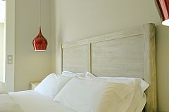 headboard detail in the master bedroom