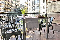 the icing on the cake is the furnished sunny terrace in the Noname apartment in Eixaple left Barcelona