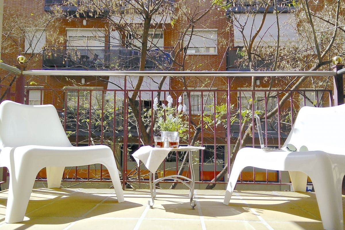 enjoy the outdoors in the nice sunny furnished terrace, the place for your peace of mind
