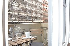 balcony at the KissMe apartment. A major advantage of this apartment is its location in a central, quiet neighbourhood