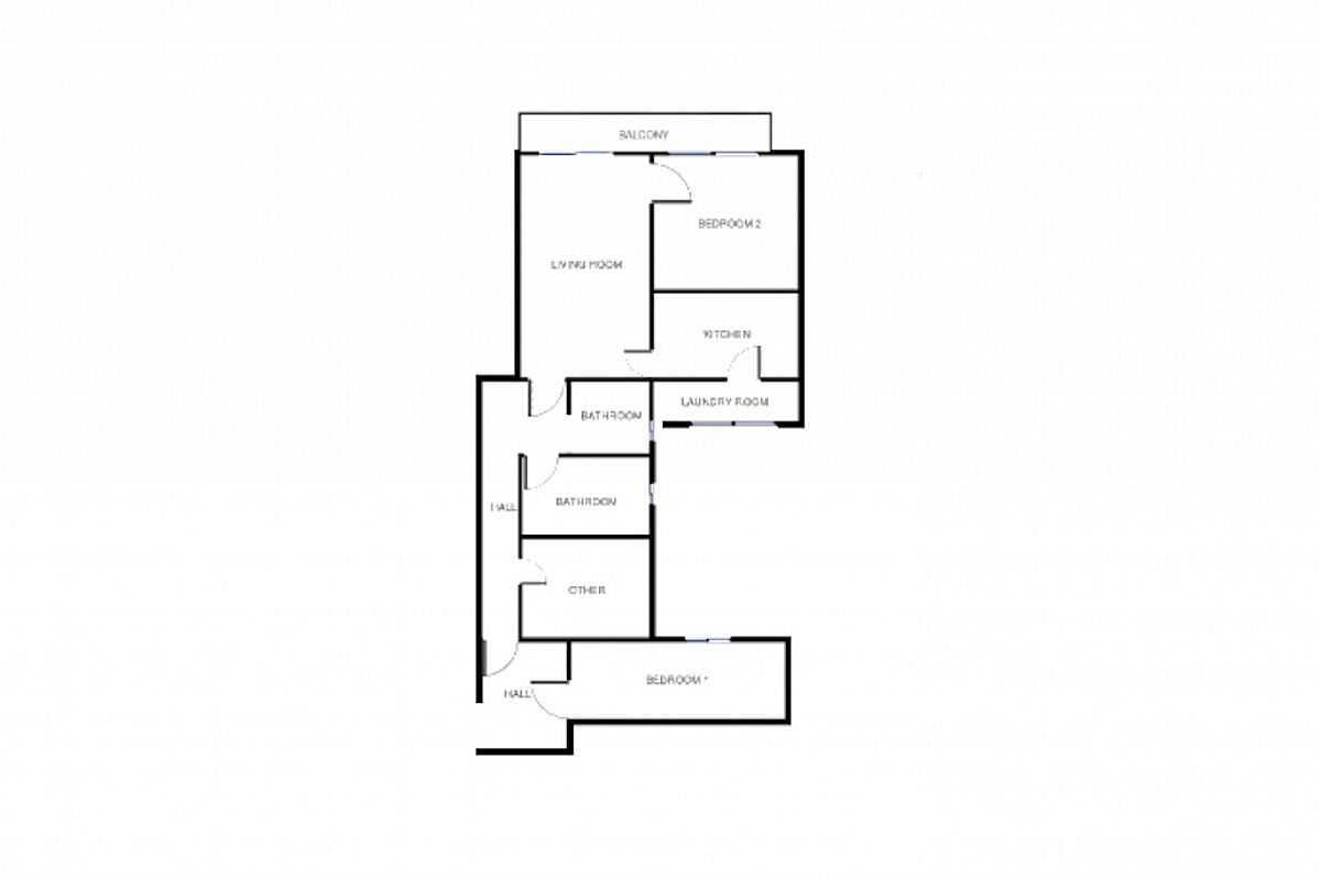 floor plan of the Ascot apartment in Barcelona for short term rentals