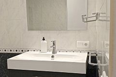 the second bathroom vanity at Macca luxury apartment to rent for months in Barcelona close to El Born neighbourhood