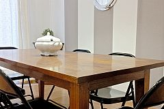 smart dining room in the Macca furnished apartment in Barcelona Gothic Quarter area