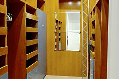 large walk-in closet in the master bedroom