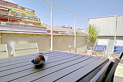 this terrace is amazing for guests travelling with children to Barcelona