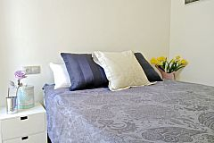 comfortable double bed in the master bedroom