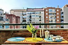 views from the terrace of the Dandelion apartment with one bedroom in Les Corts neighbourhood close to Diagonal in Barcelona