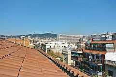 views from the Jollie penthouse with Terrace in Les Corts Barcelona for monthly rentals